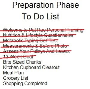 Preparation Phase To Do List 12weekgoal done