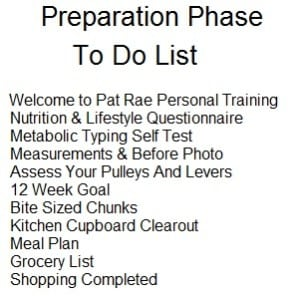 Preparation Phase To Do List