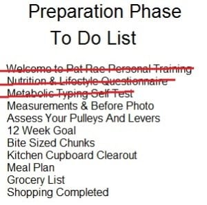 Preparation Phase To Do List MT done