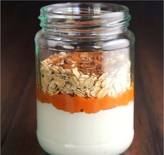 Mason Jar Pumpkin and Oats- Easy meal for Breakfast or afternoon snack